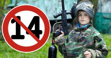 Prohibido Paintball a menores de 14 años de edad en España