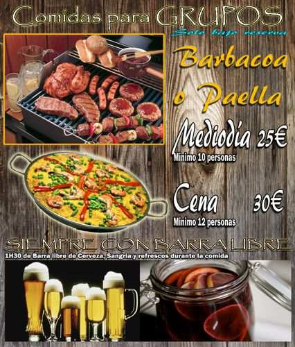 Barbacoas, parrilladas, paellas con Paintball Madrid